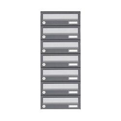 Basic   7er Aufputz Briefkastenanlage Design BASIC 385A AP - Edelstahl-RAL 7016 anthrazit   Mailboxes   Briefkasten Manufaktur