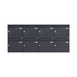 Basic | 8er 2x4 Aufputz Briefkasten Design BASIC 382A AP - RAL 7016 anthrazitgrau 100mm Tiefe | Mailboxes | Briefkasten Manufaktur