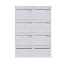 Basic   8er Edelstahl Aufputz Briefkastenanlage Design BASIC 385 A 220 - Edelstahl V2A geschliffen   Mailboxes   Briefkasten Manufaktur