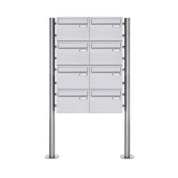 Basic | 8er Edelstahl Standbriefkasten Design BASIC Plus 385 220 X ST R - Edelstahl V2A | Mailboxes | Briefkasten Manufaktur