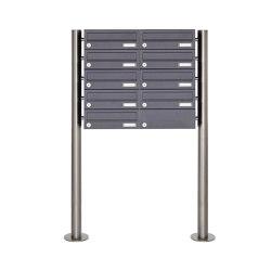 Basic | 9er Edelstahl Standbriefkasten Design BASIC Plus 385 X ST R - RAL nach Wahl | Mailboxes | Briefkasten Manufaktur
