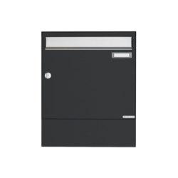 Basic | Aufputz Briefkasten Design BASIC 382A AP mit Zeitungsfach - Edelstahl-RAL 7016 anthrazitgrau | Mailboxes | Briefkasten Manufaktur