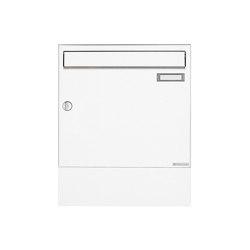 Basic | Aufputz Briefkasten Design BASIC 382A AP mit Zeitungsfach - RAL 9016 verkehrsweiß | Mailboxes | Briefkasten Manufaktur