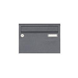 Basic   Aufputz Briefkastenanlage Design BASIC 385 A 220 - RAL 7016 anthrazitgrau feinstruktur matt   Mailboxes   Briefkasten Manufaktur