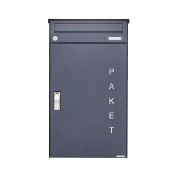 Basic | Aufputz Paketbriefkasten BASIC 863 AP mit Paketfach 550x370 in RAL 7016 anthrazitgrau | Mailboxes | Briefkasten Manufaktur