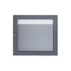 Basic | Aufputz Schaukasten BASIC Plus 389 AP - 710x660 - RAL nach Wahl RAL 7016 anthrazitgrau feinstruktur matt | Information totems | Briefkasten Manufaktur