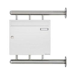 Basic   Briefkasten BASIC 810 W zur seitlichen Wandmontage - RAL 9016 verkehrsweiß 100mm Tiefe   Mailboxes   Briefkasten Manufaktur