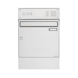 Basic | Edelstahl Aufputz Briefkasten Design BASIC 382A AP mit Klingelkasten & Zeitungsfach | Mailboxes | Briefkasten Manufaktur