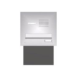 Basic | Edelstahl Mauerdurchwurf Briefkastenanlage BASIC 623 - Klingel- Sprechstelle - 1 Partei | Mailboxes | Briefkasten Manufaktur