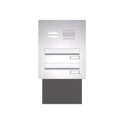 Basic | Edelstahl Mauerdurchwurf Briefkastenanlage BASIC 623 - Klingel- Sprechstelle - 2 Parteien | Mailboxes | Briefkasten Manufaktur