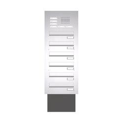 Basic | Edelstahl Mauerdurchwurf Briefkastenanlage BASIC 623 - Klingel- Sprechstelle - 6 Parteien | Mailboxes | Briefkasten Manufaktur