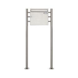Basic | Edelstahl Standbriefkasten Design BASIC 381 ST-R Edelstahl V2A, geschliffen 100mm Tiefe | Briefkästen | Briefkasten Manufaktur