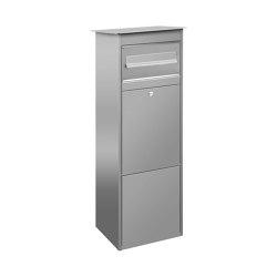 Basic   Edelstahl Standbriefkasten Paketbriefkasten freistehend BASIC 862   Mailboxes   Briefkasten Manufaktur