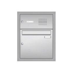 Basic | Edelstahl Unterputz Briefkastenanlage BASIC 534-UP - Klingel- Sprechstelle - 1 Partei | Mailboxes | Briefkasten Manufaktur