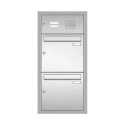 Basic | Edelstahl Unterputz Briefkastenanlage BASIC 534-UP - Klingel- Sprechstelle - 2 Parteien | Mailboxes | Briefkasten Manufaktur