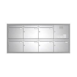 Basic | Edelstahl Unterputz Briefkastenanlage BASIC 534-UP - Klingel- Sprechstelle - 7 Parteien Rechts | Mailboxes | Briefkasten Manufaktur