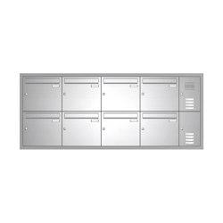 Basic | Edelstahl Unterputz Briefkastenanlage BASIC 534-UP - Klingel- Sprechstelle - 8 Parteien Rechts | Mailboxes | Briefkasten Manufaktur