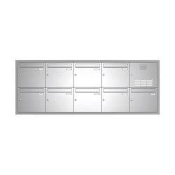 Basic | Edelstahl Unterputz Briefkastenanlage BASIC 534-UP - Klingel- Sprechstelle - 9 Parteien Rechts | Mailboxes | Briefkasten Manufaktur