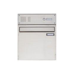 Basic | Edelstahl Zaunbriefkasten BASIC 382Z mit Klingelkasten- Entnahme rückseitig Oben | Mailboxes | Briefkasten Manufaktur