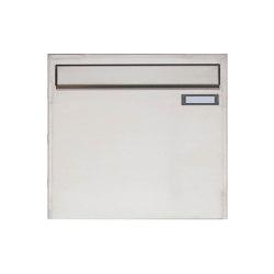 Basic   Edelstahl Zaunbriefkasten Design BASIC 382Z - Entnahme rückseitig   Mailboxes   Briefkasten Manufaktur