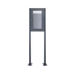 Basic | Freistehender Schaukasten BASIC 389 ST-T - 355x660 - RAL 7016 anthrazitgrau | Information totems | Briefkasten Manufaktur
