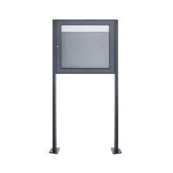 Basic | Freistehender Schaukasten BASIC 389 ST-T - 710x660 - RAL 7016 anthrazitgrau | Information totems | Briefkasten Manufaktur