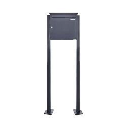 Basic | Großraumbriefkasten freistehend Design BASIC 380BP-330 ST-T - RAL 7016 Anthrazit-Grau | Mailboxes | Briefkasten Manufaktur