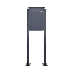 Basic   Großraumbriefkasten freistehend Design BASIC 380BP-550 ST-T - RAL 7016 Anthrazit-Grau   Mailboxes   Briefkasten Manufaktur