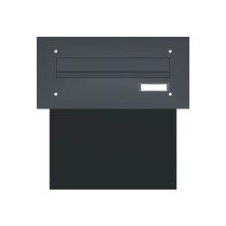 Basic | Mauerdurchwurf Briefkasten BASIC 622 pulverbeschichtet - 1 Partei RAL 7016 anthrazitgrau feinstruktur matt | Mailboxes | Briefkasten Manufaktur