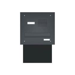 Basic | Mauerdurchwurf Briefkastenanlage BASIC 623 pulverbeschichtet - Klingel- Sprechstelle - 1 Partei RAL 7016 anthrazitgrau feinstruktur matt | Mailboxes | Briefkasten Manufaktur