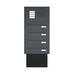 Basic | Mauerdurchwurf Briefkastenanlage BASIC 623 pulverbeschichtet - Klingel- Sprechstelle - 4 Parteien | Mailboxes | Briefkasten Manufaktur