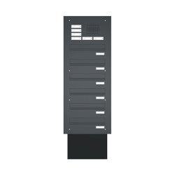 Basic | Mauerdurchwurf Briefkastenanlage BASIC 623 pulverbeschichtet - Klingel- Sprechstelle - 6 Parteien | Mailboxes | Briefkasten Manufaktur