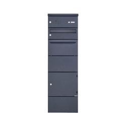 Basic | Paketbriefkasten freistehend BASIC 862BR STEL pulverbeschichtet mit Schleusensystem & Klingelkasten | Mailboxes | Briefkasten Manufaktur