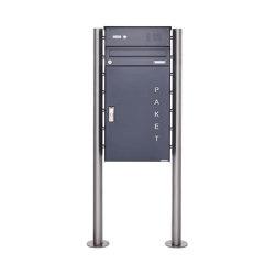 Basic | Paketbriefkasten freistehend BASIC 863 ST-R mit Klingelkasten & Paketfach 550x370 in RAL 7016 | Mailboxes | Briefkasten Manufaktur