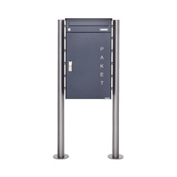 Basic   Paketbriefkasten freistehend BASIC 863 ST-R mit Paketfach 550x370 in RAL 7016 anthrazitgrau   Mailboxes   Briefkasten Manufaktur
