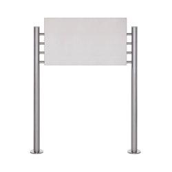 Basic | Schild freistehend BASIC 390ES - Edelstahl Standelemente - Edelstahlblech 800x457 einseitig | Information totems | Briefkasten Manufaktur