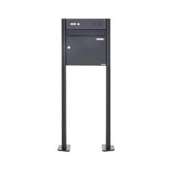 Basic | Standbriefkasten Design BASIC 380 ST-T mit Klingelkasten - RAL 7016 anthrazitgrau 100mm Tiefe | Mailboxes | Briefkasten Manufaktur