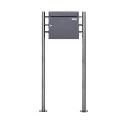 Basic   Standbriefkasten Design BASIC 381 ST-R - DB703 eisenglimmer 100mm Tiefe   Mailboxes   Briefkasten Manufaktur