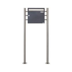Basic   Standbriefkasten Design BASIC 381 ST-R - Edelstahl-RAL 7016 anthrazitgrau 100mm Tiefe   Mailboxes   Briefkasten Manufaktur
