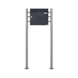 Basic   Standbriefkasten Design BASIC 381 ST-R - RAL 7016 anthrazitgrau 100mm Tiefe   Mailboxes   Briefkasten Manufaktur