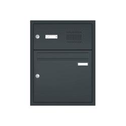 Basic | Unterputz Briefkastenanlage BASIC 534 - Pulverbeschichtet- Klingel- Sprechstelle - 1 Partei | Mailboxes | Briefkasten Manufaktur