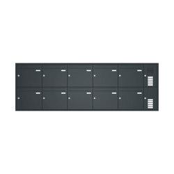 Basic | Unterputz Briefkastenanlage BASIC 534 - Pulverbeschichtet- Klingel- Sprechstelle - 10 Parteien Rechts | Mailboxes | Briefkasten Manufaktur