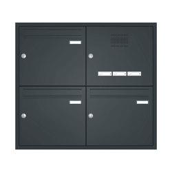 Basic | Unterputz Briefkastenanlage BASIC 534 - Pulverbeschichtet- Klingel- Sprechstelle - 3 Parteien Rechts | Mailboxes | Briefkasten Manufaktur