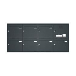 Basic | Unterputz Briefkastenanlage BASIC 534 - Pulverbeschichtet- Klingel- Sprechstelle - 7 Parteien Rechts | Mailboxes | Briefkasten Manufaktur