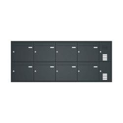 Basic | Unterputz Briefkastenanlage BASIC 534 - Pulverbeschichtet- Klingel- Sprechstelle - 8 Parteien Rechts | Mailboxes | Briefkasten Manufaktur