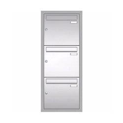 Basic | Unterputz Briefkastenanlage BASIC 534 UP - Edelstahl V2A geschliffen - 3 Partei - 3x1 | Mailboxes | Briefkasten Manufaktur