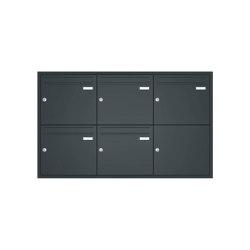 Basic | Unterputz Briefkastenanlage BASIC 534 UP pulverbeschichtet - 5 Parteien | Mailboxes | Briefkasten Manufaktur