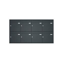 Basic | Unterputz Briefkastenanlage BASIC 534 UP pulverbeschichtet - 8 Parteien | Mailboxes | Briefkasten Manufaktur