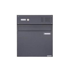 Basic | Zaunbriefkasten BASIC 382Z - RAL 7016 anthrazitgrau - mit Klingelkasten - Entnahme rückseitig Oben | Mailboxes | Briefkasten Manufaktur