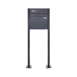 Basic | Zaunbriefkasten freistehend BASIC 380Z-P mit Klingelkasten- RAL 7016 anthrazitgrau | Mailboxes | Briefkasten Manufaktur